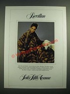 1982 Saks Fifth Avenue Revillon Natural Golden Russian Sable Fur Coat Ad