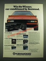 1982 Kenwood Car stereos Ad - Win the Winner