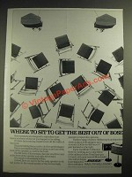 1983 Bose 901 Series V Direct/Reflecting Sound Speakers Ad
