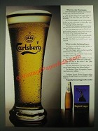 1984 Carlsberg Export Beer Ad - When To Order Champagne