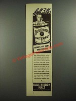 1938 Pabst Blue Ribbon Malt Ad - Full 3 lbs