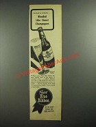 1942 Pabst Blue Ribbon Beer Ad - Blended Like Finest Champagnes