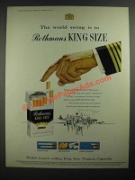 1959 Rothman's King Size Cigarettes Ad - The World Swing