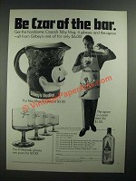 1970 Gilbey's Vodka Ad - Be Czar of the Bar