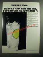 1971 The Rums of Puerto Rico Ad - The Rum & Tonic