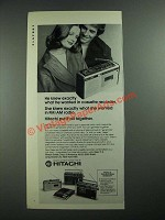 1973 Hitachi FM/AM Radio and Cassette Recorder Ad