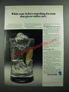 1974 Puerto Rican Rums Ad - It Does Something For Tonic