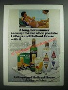 1975 Holland House Cocktail Mixes and Gilbey's Gin and Vodka Ad