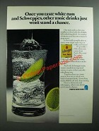 1976 Puerto Rican Rums Ad - White Rum and Schweppes