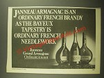 1978 Janneau Grand Armagnac Brandy Ad - The Bayeux Tapestry