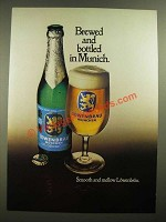 1979 Lowenbrau Beer Ad - Brewed and Bottled in Munich
