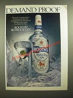 1979 Booth's High & Dry Gin Ad - Demand Proof