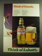 1980 Labatt's Beer Ad - Think of Canada