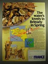 1980 France Tourism Ad - The Water's Lovely in Brittany in Spring