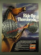 1981 Dayton Tires Ad - Ride the Thorobreds