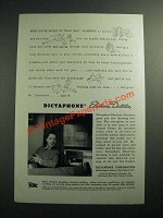 1945 Dictaphone Electronic Dictation Machine Ad