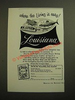 1955 Louisana Tourist Bureau Ad - Where the Living is Easy
