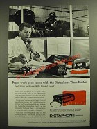 1957 Dictaphone Time-Master Dictating Machine Ad - Paper Work