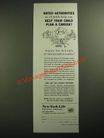 1957 New York Life Insurance Ad - Noted Authorities