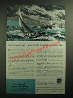 1958 Metropolitan Life Insurance Ad - Storm Warnings High Blood Pressure