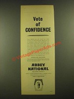 1960 National Building Society Ad - Vote of Confidence