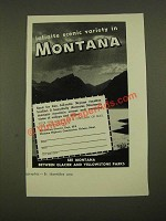1960 Montana Highway Commission Ad - Scenic Variety