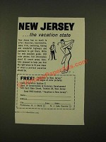 1961 New Jersey Dept. of Conservation & Economic Development Ad