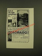 1963 Colorado Dept. Of Public relations Ad - Look at the State Everything's In