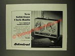 1966 Admiral Golden Classic Clock-Radio Ad