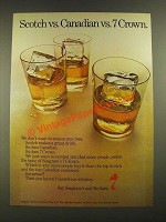 1970 Seagram's 7 Crown Whiskey Ad - Scotch vs. Canadian vs. 7 Crown