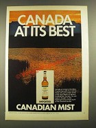 1972 Canadian Mist Whisky Ad - Canada At Its Best