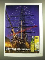 1973 Cutty Sark Scotch Ad - At Christmas