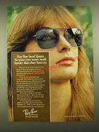 1976 Ray-Ban SunGlasses Ad - So Your Eyes Won't Work Harder