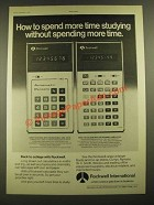1976 Rockwell 14RD and 44RD Calculators Ad - Spend More Time Studying