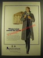 1977 Aquascutum Fashion Ad - Winter is Just Around the Corner