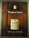 1977 Haig Scotch Ad - Haigland Spirit