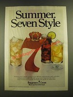1979 Seagram's 7 Crown Whiskey Ad - Summer Seven Style