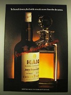 1979 Haig Scotch Ad - The Bottle Reveals More Than the Decanter