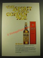 1979 Haig Golden Age Scotch Ad - The Spirit of the Golden Age