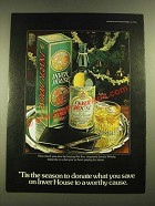 1979 Inver House Scotch Ad - 'Tis the Season to Donate