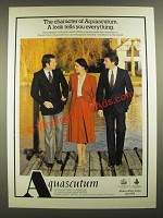 1979 Aquascutum Suits and Blazers Ad - The Character