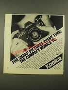 1979 Konica TC Camera Ad - For Sharp Pictures Every Time
