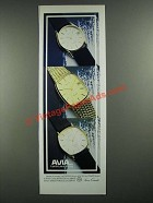 1980 Avia Watches Ad - 205401, 207202, 206021