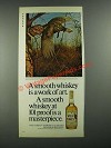 1980 Wild Turkey Bourbon Ad - Smooth Whiskey is a Work of Art