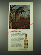 1980 Wild Turkey Bourbon Ad - Wild Turkey Lore