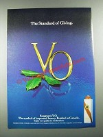 1980 Seagram's V.O. Whiskey Ad - The Standard of Giving