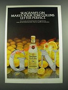 1980 Seagram's Extra Dry Gin Ad - Makes Your Tom Collins