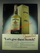 1980 Jameson Irish Whiskey Ad - Let's Give Them
