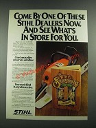 1981 Stihl Chain Saw Ad - See What's In Store For You
