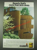 1981 Olympic Oil Stain Ad - Home by Architect Wendell Lovett